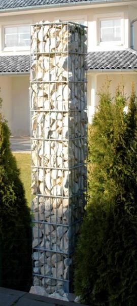 Einzelne Gabionen Säulen
