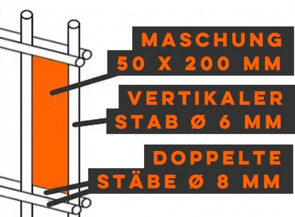 Zaun-Set Profi mit Sichtschutz 8-6-8 mm